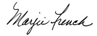 Marjie Signature