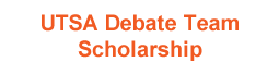 UTSA Debate Team Scholarship